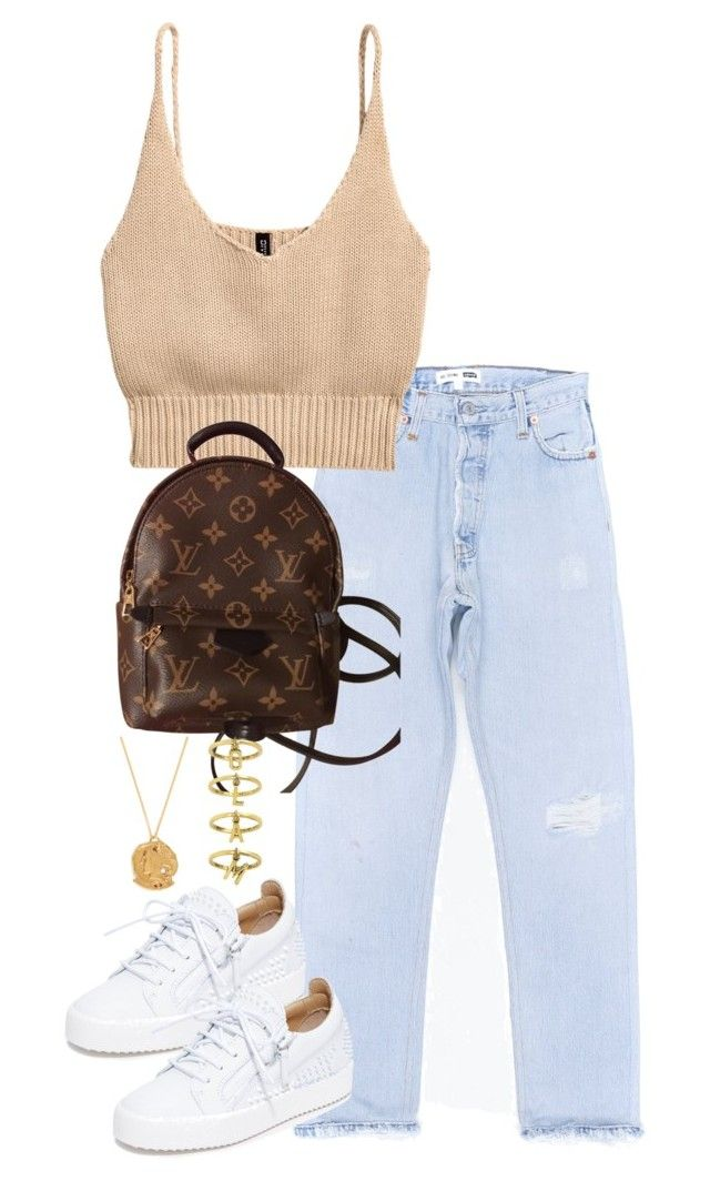 """Untitled #5233"" by theeuropeancloset ❤ liked on Polyvore featuring H&M, Giuseppe Zanotti, Louis Vuitton, Alighieri and Steve Madden"