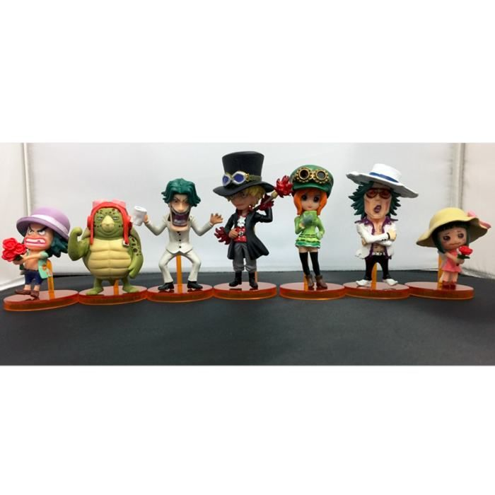 7 pcs/set anime one piece figures cosplay one piece Q version keychain/base action figure collectible model toys brinquedos #Affiliate