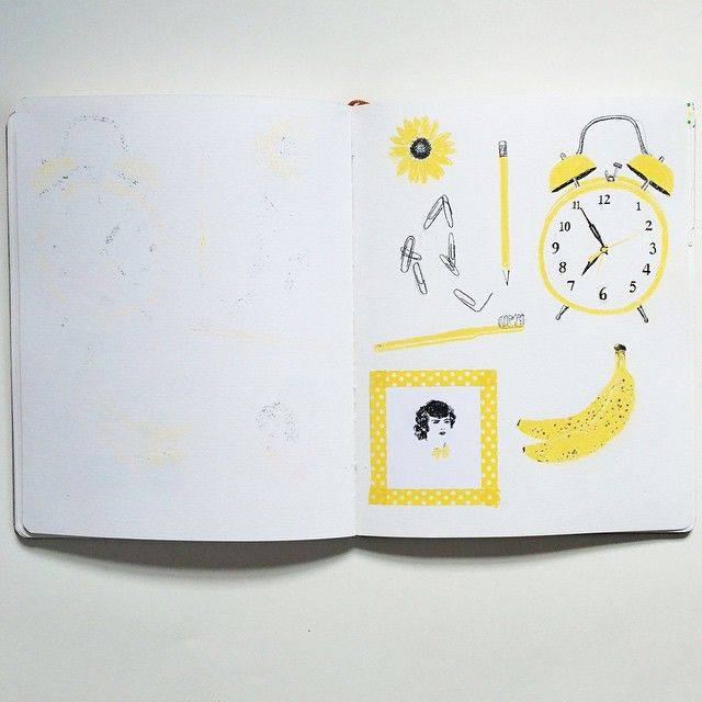yellow page from my color theory zine