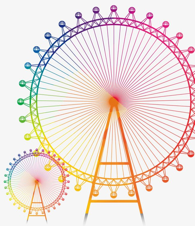 Colorful Lines Ferris Wheel Decorated Background Colorful Lines Ferris Png Transparent Clipart Image And Psd File For Free Download Wheel Decor Color Clip Art