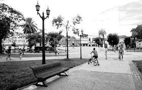 2018.La plaza 25 de Mayo, luego de la remodelación integral que se ejecutó en los últimos dos años.