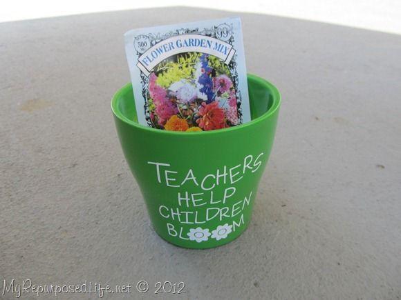 Awesome Teacher Appreciation Gift!: Teacher Gifts, Gifts Ideas, Awesome Teacher, Teacher Ss Gifts, Teacher Appreciation Gifts, Help Children, Children Bloom, Teacher Help, Flowers Seeds