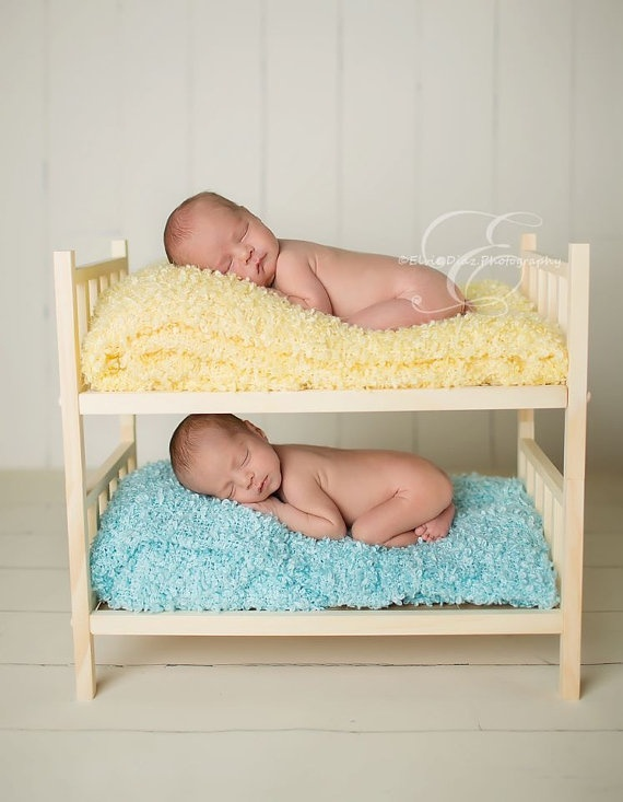 Newborn bunk bed prop natural wood by babyminepropshop on etsy 38 00