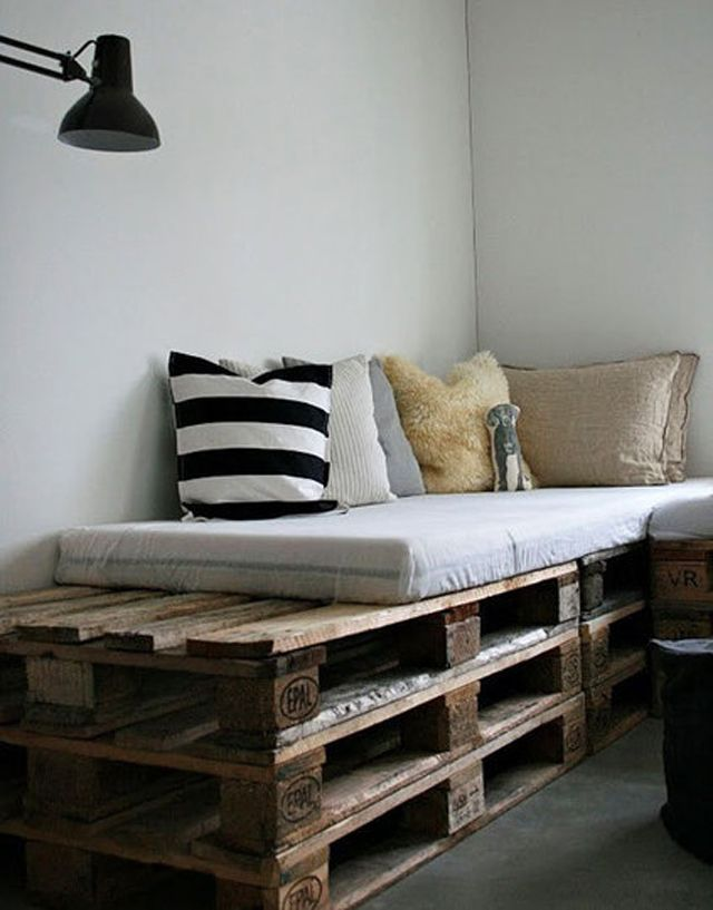 22 Interesting Useful DIY Ideas How To Use Old Pallets: Decor, Pallets Sofas, Pallets Benches, Pallets Beds, Pallets Furniture, Wooden Pallets, Pallets Ideas, Wood Pallets, Diy