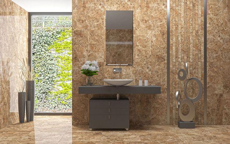 Mermerin eşsiz dokularının birebir seramiğe aktarılmasıyla doğan Modena, şıklığı ve görsel zenginliği birarada sunarak mekanlara ihtişam katıyor. Çarpıcı dokusu asil mekanlar yaratmak isteyenler için mükemmel bir seçim olacak. #seranova #seramik  #banyo #dekorasyonu #bathroom #modena