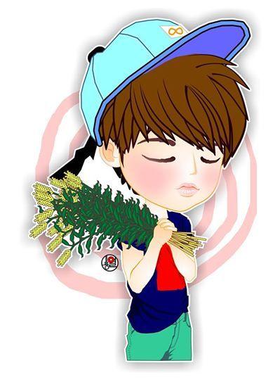 postCARD | fanART Sweet day for #Woohyun24thBDay | created by +Ratna Har (Little Lumut)