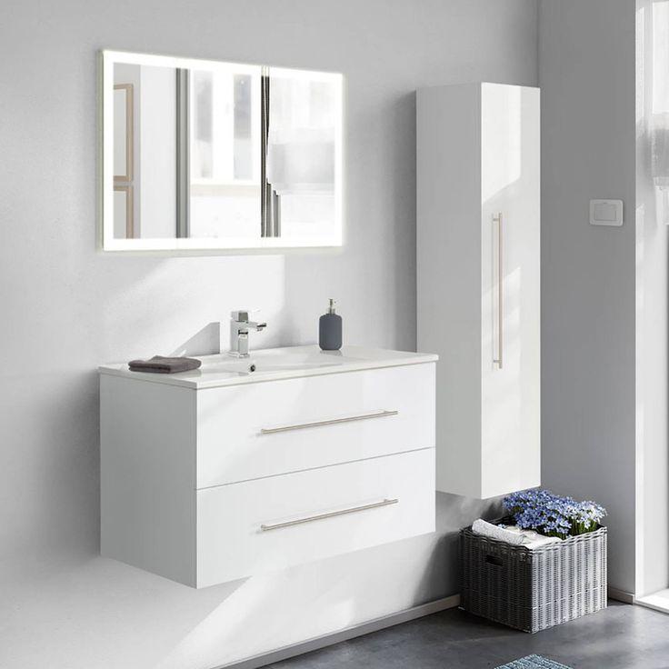 Spiegelschrank Badezimmer 100cm Landhaus Badmobel Gunstig Komplettset Badmobel Spiegelschrank Bad Gunstig Kaufen Badmobel Badezimmer Mobel Badezimmer Set