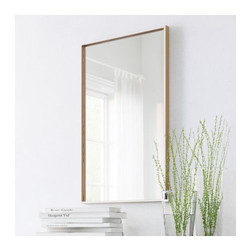 Skogsv g mirror white beech veneer 50x80 cm kid nice for Miroir 50x80