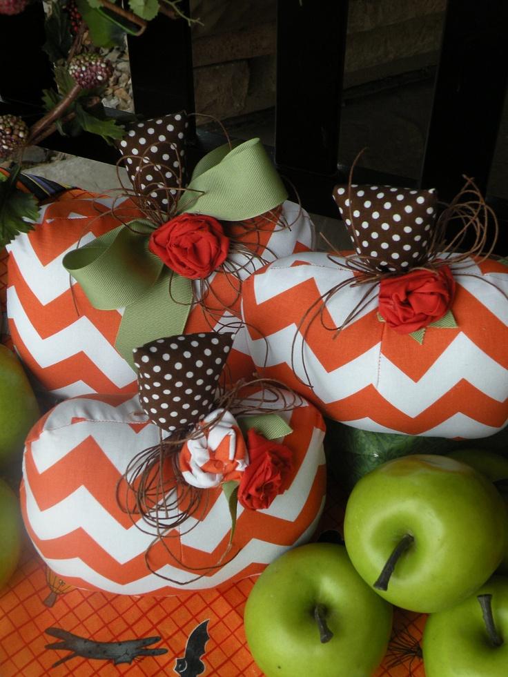 Halloween/ Fall  Chevron Pumpkin Set.