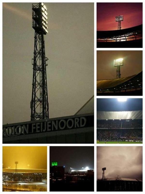 Mijn collage tegen komen op pinterest. De Kuip, Rotterdam