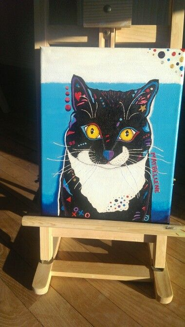 Drawing of my brother's cat - by LBClausen