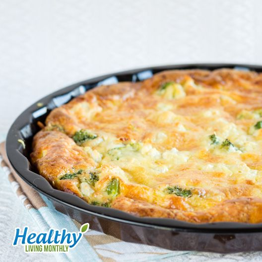 Quick Crustless Chicken Broccoli Quiche from the October 2015 issue of Healthy Living Monthly newsletter: https://gum.co/sOvPr