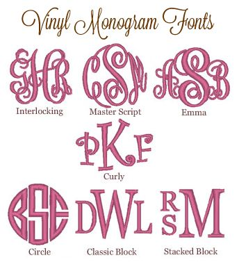 Best  Monogram Fonts Ideas On   Cricut Monogram Font