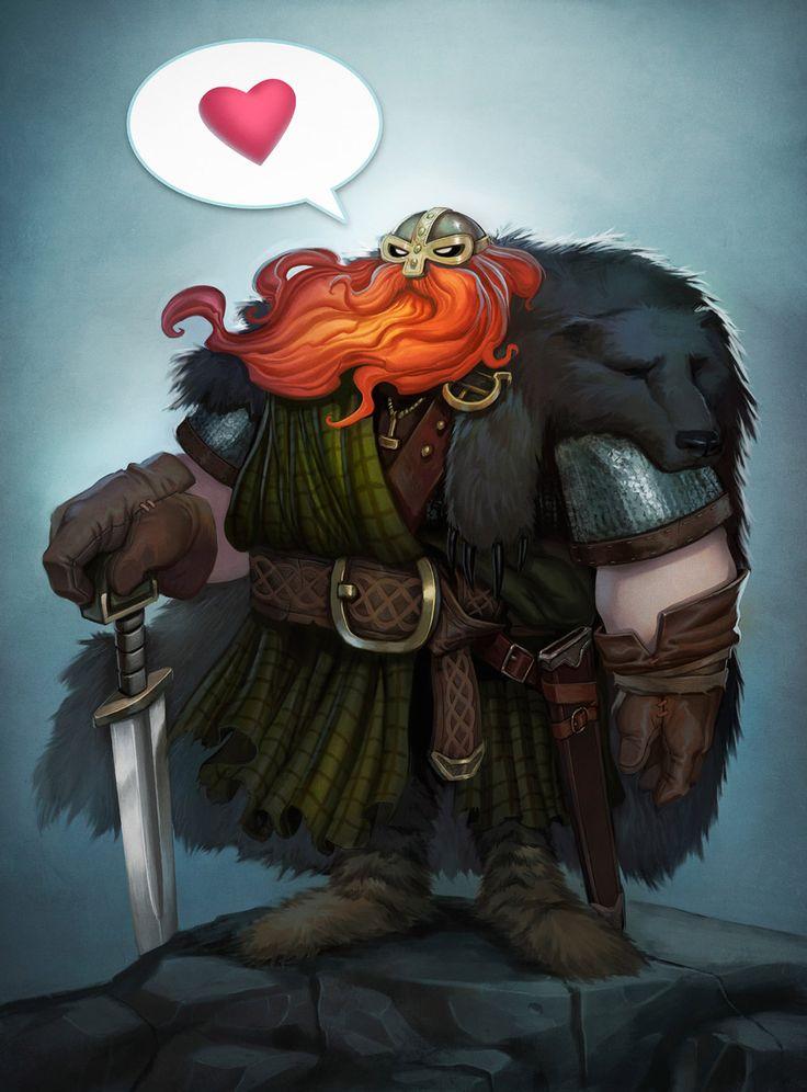 Para mañana en el Día de los Enamorados - Vikings can love,  by Caio Monteiro
