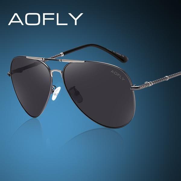 3b21a05e0e2 FuzWeb AOFLY Polarized Sunglasses Men Classic er Cool Style Eyewears ...