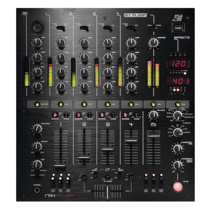 Mixer de 4 canales marca Reloop en color negro profundo. Mixer ganador del DJ Tools Award 2011 El Crossfader puede regular todos los canales de Input.