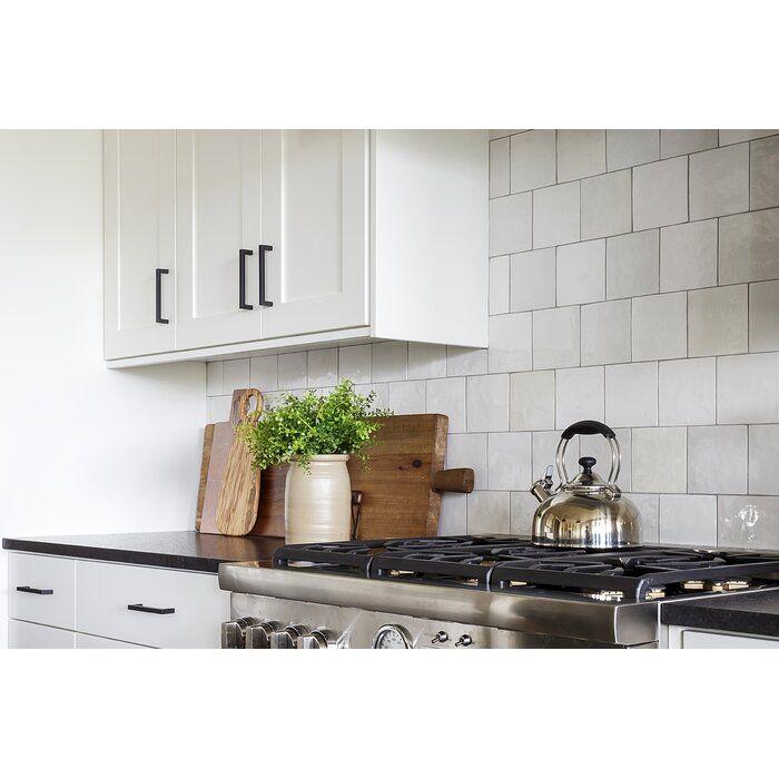 Cloe 5 X 5 Ceramic Field Tile In 2020 Wall Tiles Kitchen White Tile Backsplash