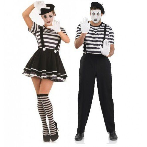 Couples Ladies AND Mens French Mime Artist Theatrical Performer ...