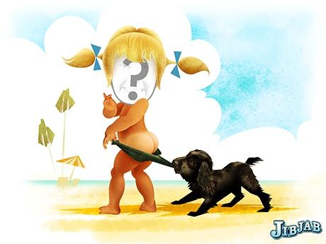 Beach Baby  eCard - Personalized Profile Pics eCards - JibJab.com