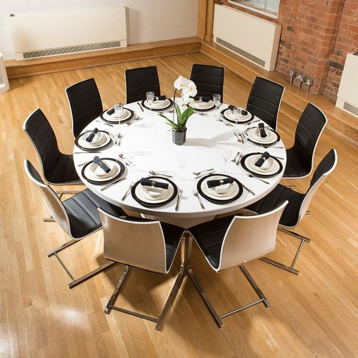 Large Round Dining Table: 116 Best Stunning Huge / Massive Indoor Dining Sets