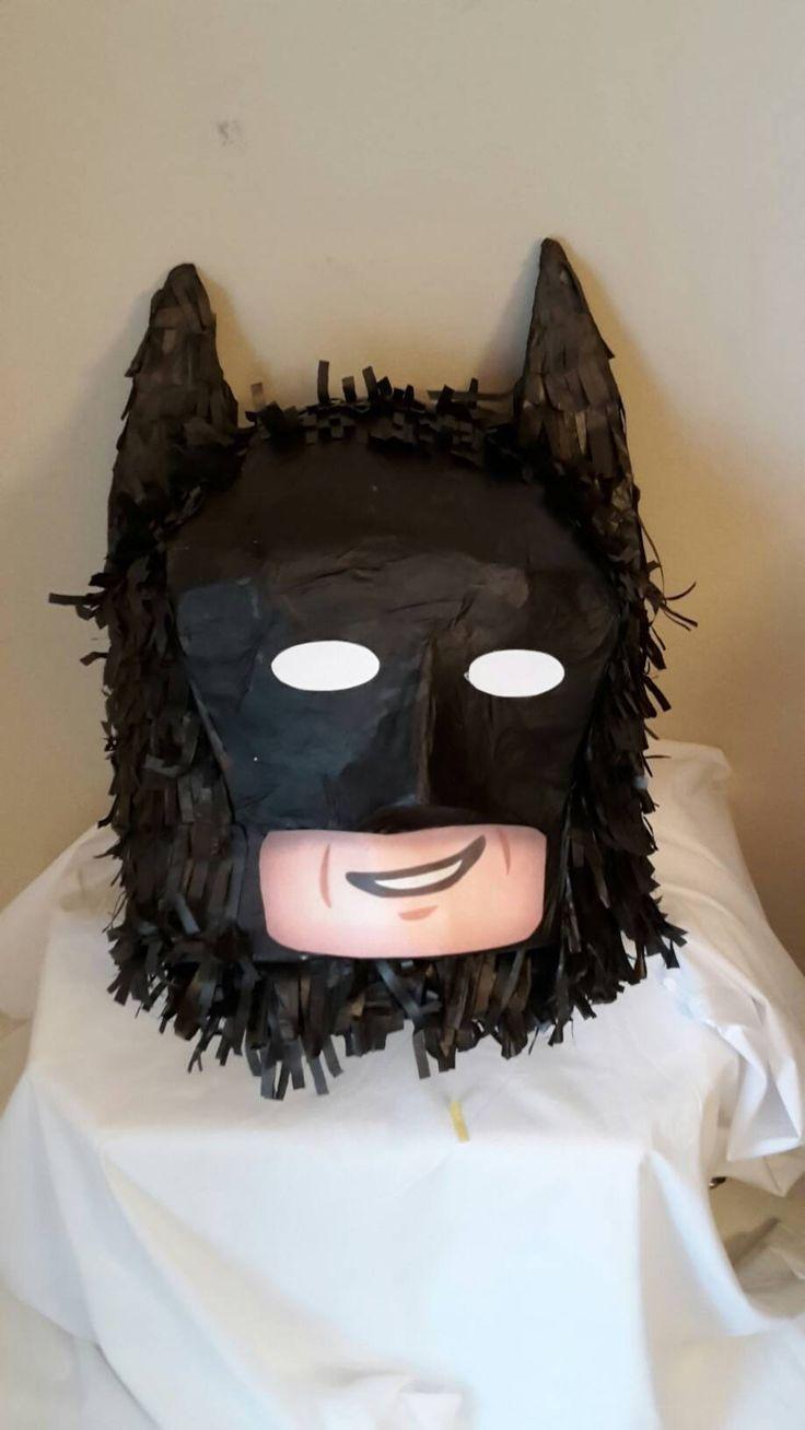 Lego Brick Head batman Piñata. Handmade. New by LOVABLEPINATAS on Etsy