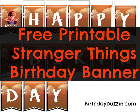 Stranger Things Party printable alphabet letters for your own fairy light wall