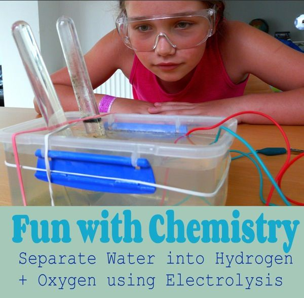 Fun with Chemistry - Separate water into hydrogen and oxygen using electrolysis