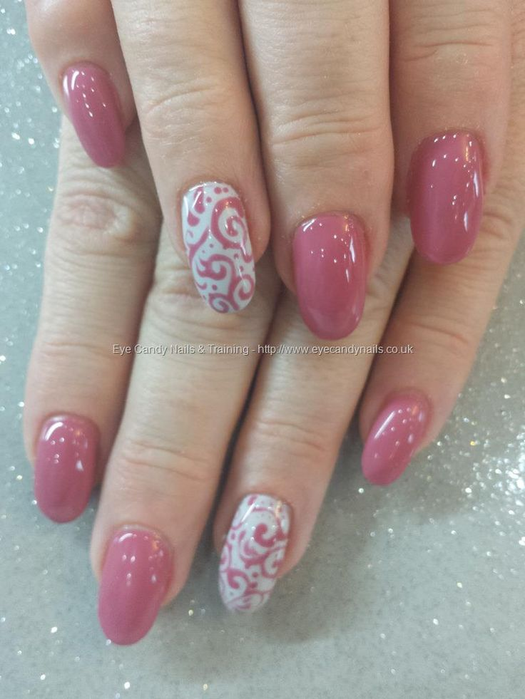 250 best nail art images on pinterest couture decorations and pink damask gel polish with swirl freehand nail art taken uploaded technicianelaine moore prinsesfo Image collections