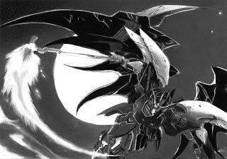 Gundam Deathscythe Hell Graphite Sketch Drawing