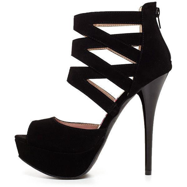 Angela Strap Heel (27.885 CLP) ❤ liked on Polyvore featuring shoes, pumps, heels, sapatos, high heels, chaussures, blk, strappy high heel shoes, sexy peep toe pumps and sexy shoes
