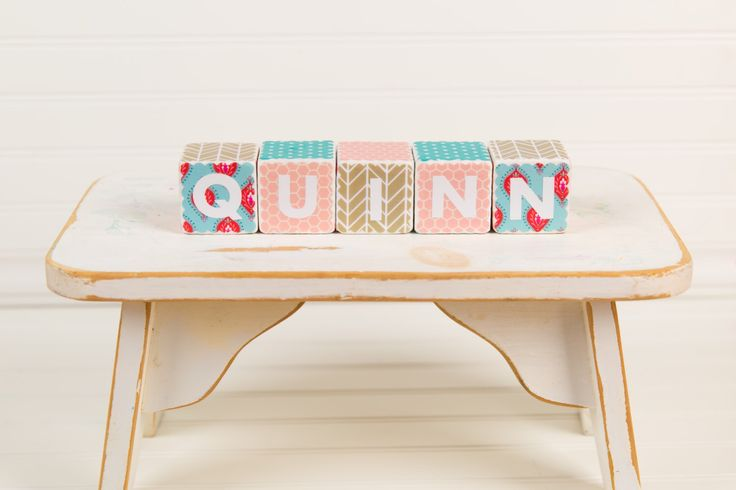 Salmon, coral, Aqua baby shower party decorations.   Custom Baby Name Blocks Nursery Decor   Baby Blocks A personal favorite from my Etsy shop https://www.etsy.com/listing/232411089/custom-baby-name-blocks-2-inch-wood