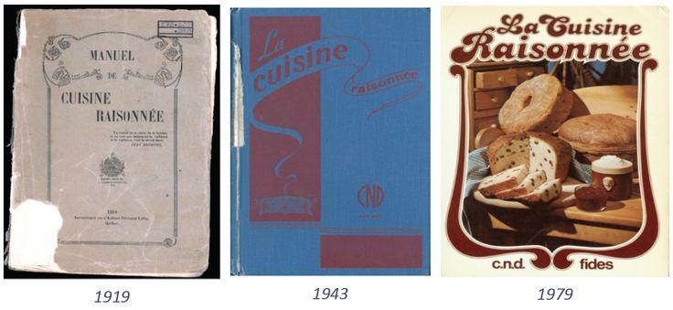 """Différentes éditions de """"La Cuisine raisonnée"""": 1919, 1943, 1979"""