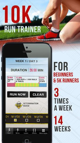 10K Runner: 0 to 5K to 10K run training By Clear Sky Apps LTD