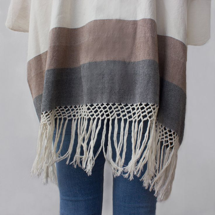 WIND FLOW OPEN PONCHO (duo) | Candor Home