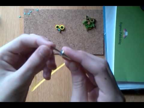 Quilling-Tutorial 1 - Fulg - YouTube