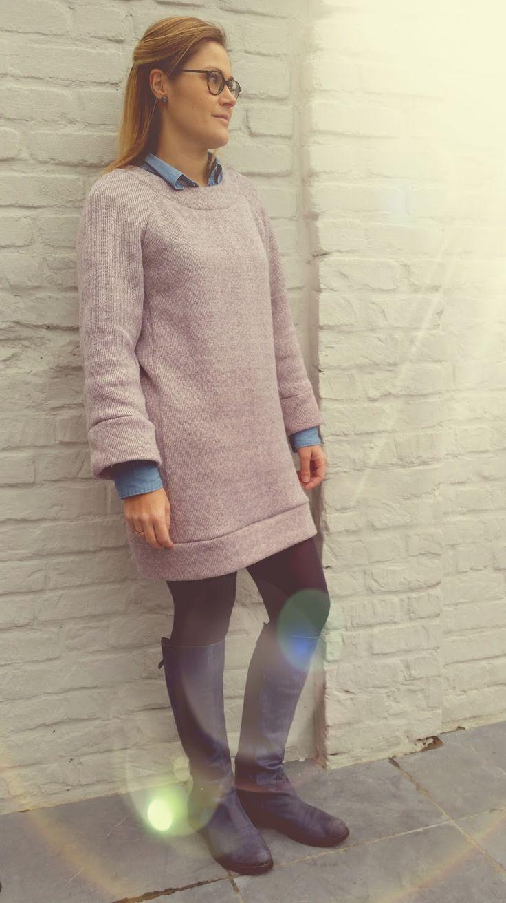 De Bea Dress,  een eerste creatie uit het magazine van La Maison Victor editie januari-februari 2016 .   LMV gebruikte een wollen stof.  Ik...