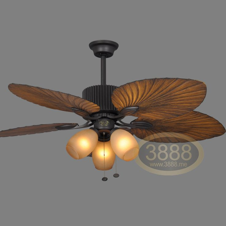 Ceiling Fan Triple Lights With Light Rustic Chandelier Lamp Living Room