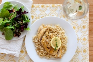 Lemon thyme chicken- tried this tonight and it was delicious and EASY!