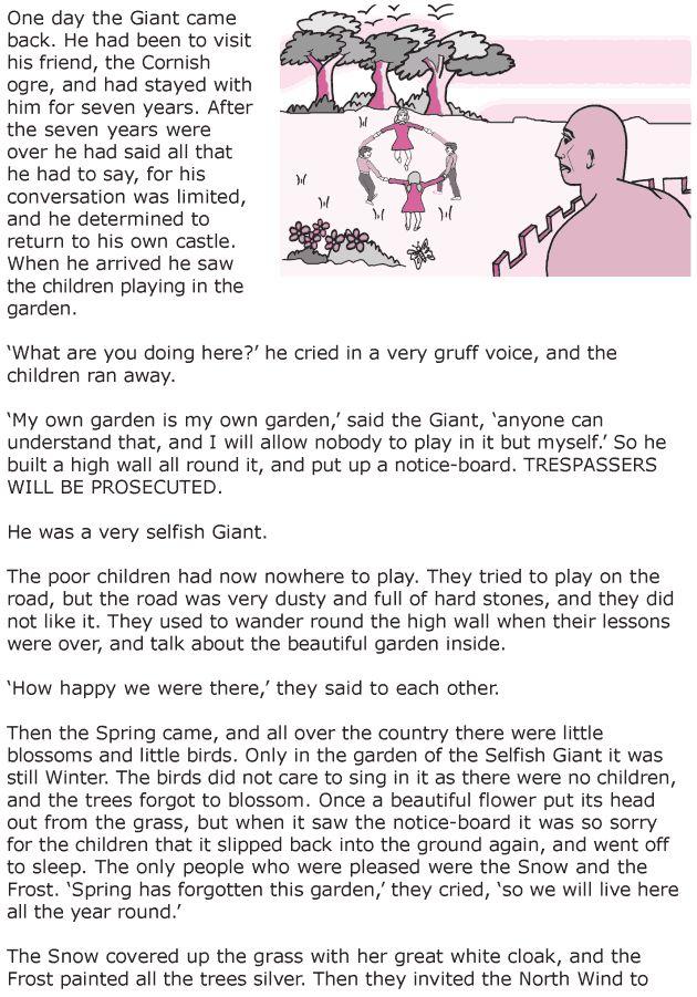 Grade 6 Reading Lesson 20 Short Stories The Selfish Giant