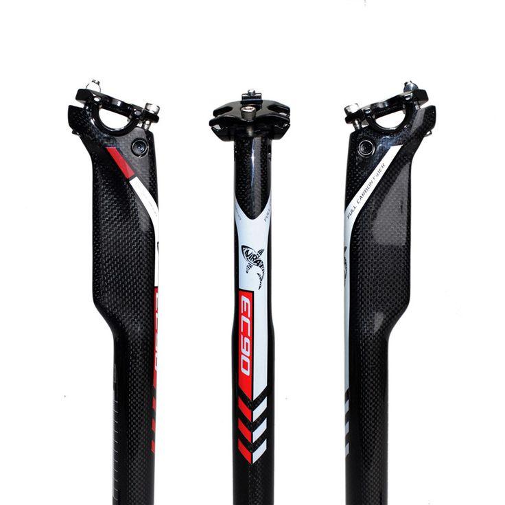 Carbon Bike Reggisella MTB Della Bici Della Strada Sedile Rottura del Vento Reggisella in carbonio 27.2/30.8/31.6*350 o 400mm