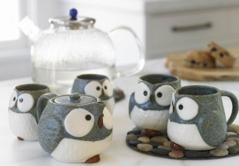 Owl mugs that I should have bought before they were sold out.