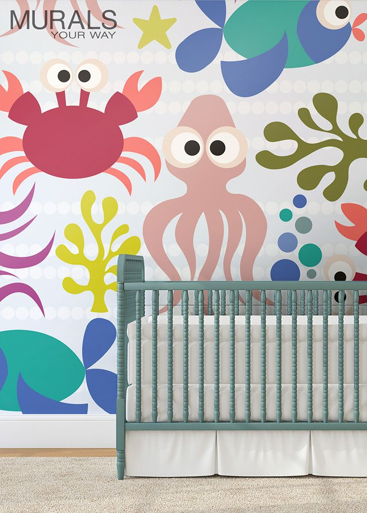 32 best images about baby nursery ideas on pinterest for Baby room mural ideas