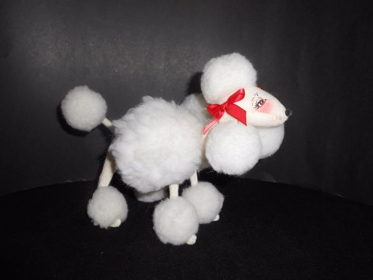 """Annalee 8"""" Poodle """"Mon Cherie"""" French Poodle Dog Made In The USA"""