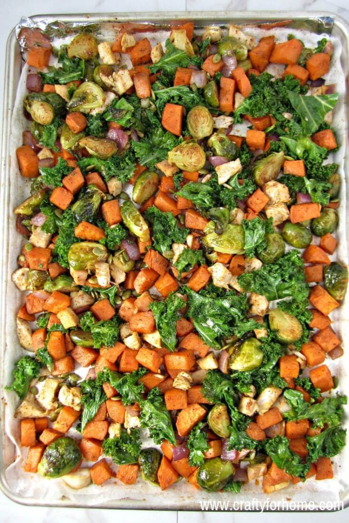Leftover Turkey With Roasted Veggies Recipe Turkey Leftover Recipes Healthy Healthy Turkey Recipes Leftover Turkey Recipes
