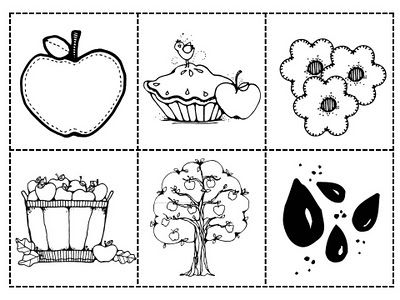 Apple tree sequencing pictures