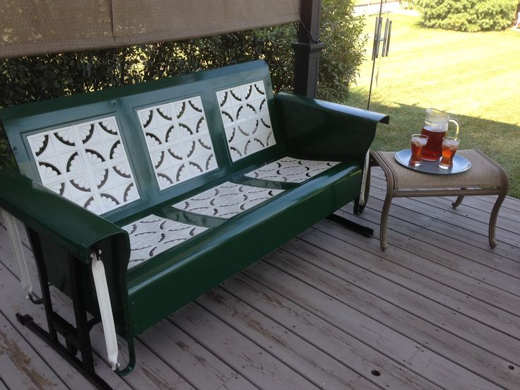Re Finished And Restored Vintage Metal Porch Glider 1950 S