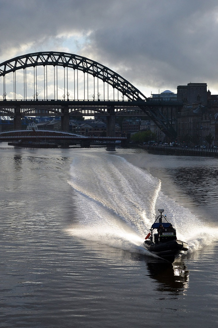 police boat on the River Tyne