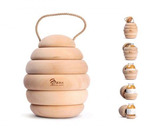 Bzzz Honey - Porta vasetti di miele a forma di alveare.