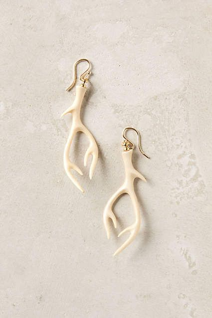 Crowned Stag Earrings - anthropologie.com