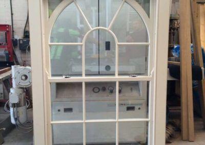 Double glazed arched top sash window